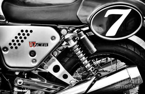 Photograph - Moto Guzzi V7 Racer Monochrome by Tim Gainey