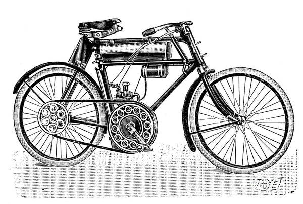 Photograph - Motorcycle, 1901 by Granger