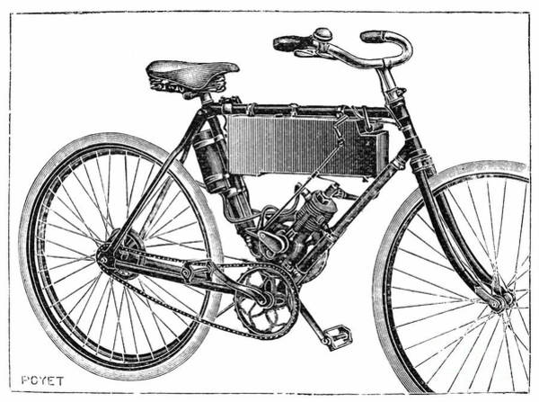 Photograph - Motorcycle, 1904 by Granger