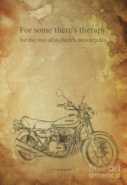 Wall Art - Digital Art - Motorcycle Quote by Drawspots Illustrations