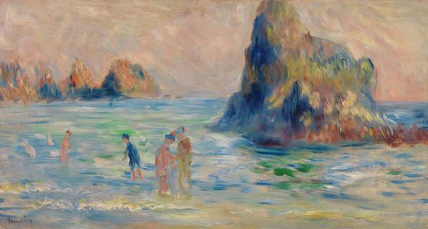 Ocean Scape Painting - Moulin Huet Bay, Guernsey by Pierre-Auguste Renoir