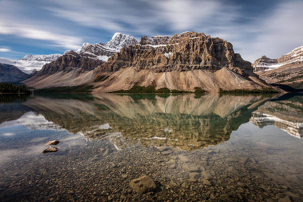 Photograph - Mount Crowfoot Reflection by Pierre Leclerc Photography