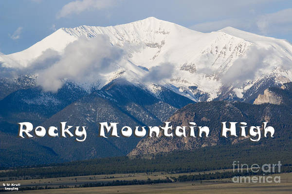 Photograph - Mount Princeton In The Collegiate Peaks Wilderness by Steve Krull