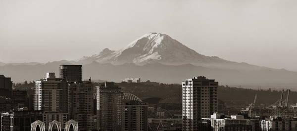 Photograph - Mount Rainier by Songquan Deng