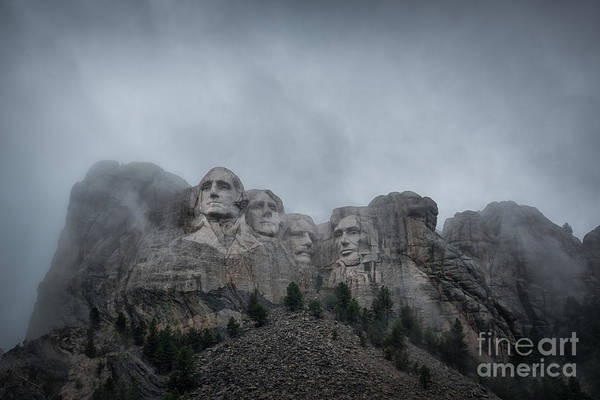 Rushmore Photograph - Mount Rushmore Break In The Clouds Pano by Michael Ver Sprill
