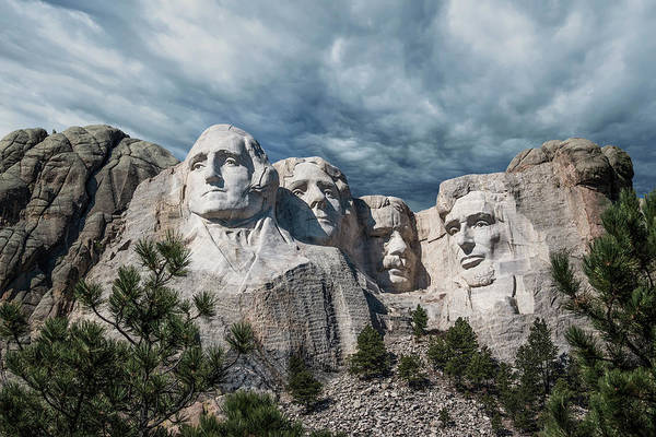Mounted Photograph - Mount Rushmore II by Tom Mc Nemar