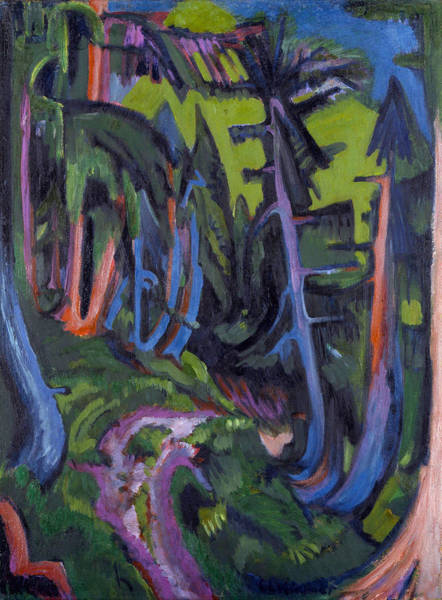 Painting - Mountain Forest Path by Ernst Ludwig Kirchner