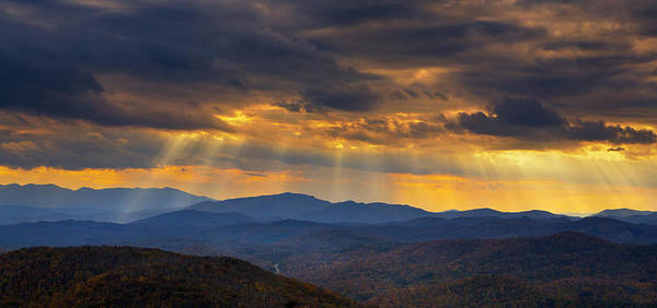 Photograph - Mountain God Rays by Ken Barrett