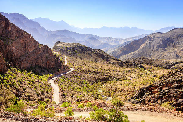 Wall Art - Photograph - Mountain Road In Oman by Alexey Stiop