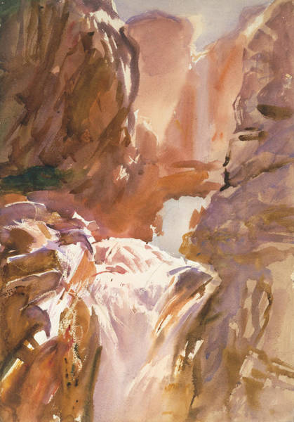 Drawing - Mountain Torrent by John Singer Sargent