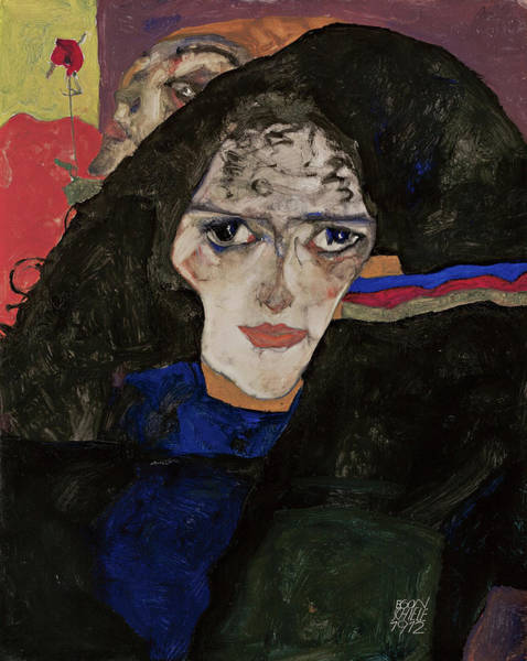 Mourning Painting - Mourning Woman by Egon Schiele