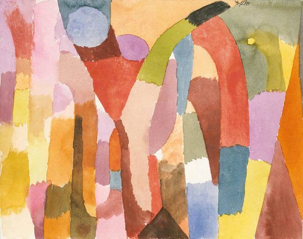 Drawing - Movement Of Vaulted Chambers by Paul Klee