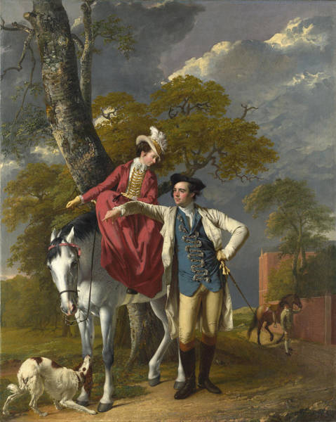 Jogging Painting - Mr And Mrs Thomas Coltman by Joseph Wright of Derby