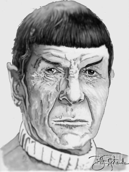 Drawing - Mr Spock by Bill Richards
