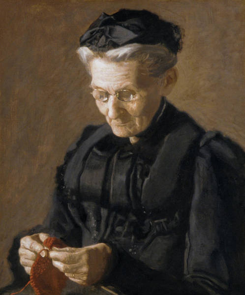 Sewer Painting - Mrs Mary Arthur by Thomas Eakins