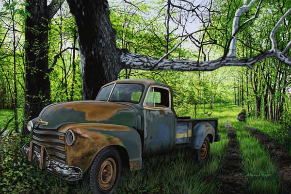 Painting - The Ol' Mushroom Hauler by Anthony J Padgett