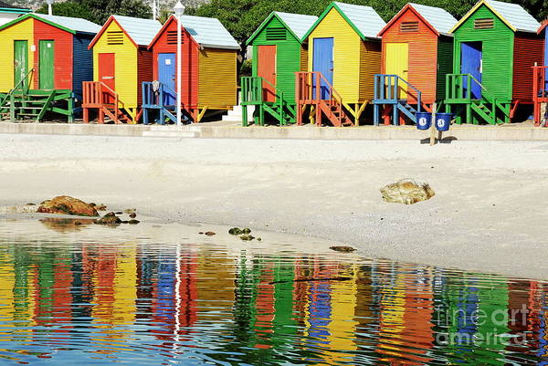 Wall Art - Photograph - Multicoloured Beach Huts On Muizenberg Beach by Sami Sarkis