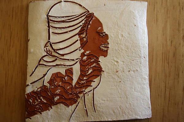 Ceramic Art - Mums Here - Tile by Gloria Ssali