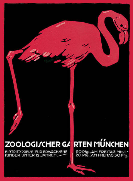 Painting - Munich Zoological Garden by Ludwig Hohlwein