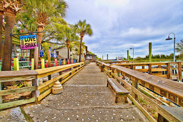 Photograph - Murrells Inlet Marshwalk by Bill Barber