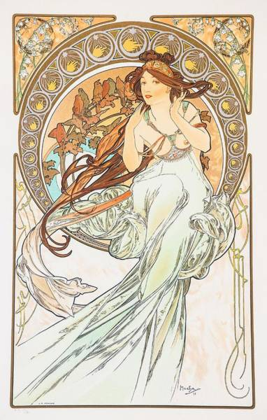 Painting - Music by Alphonse Mucha
