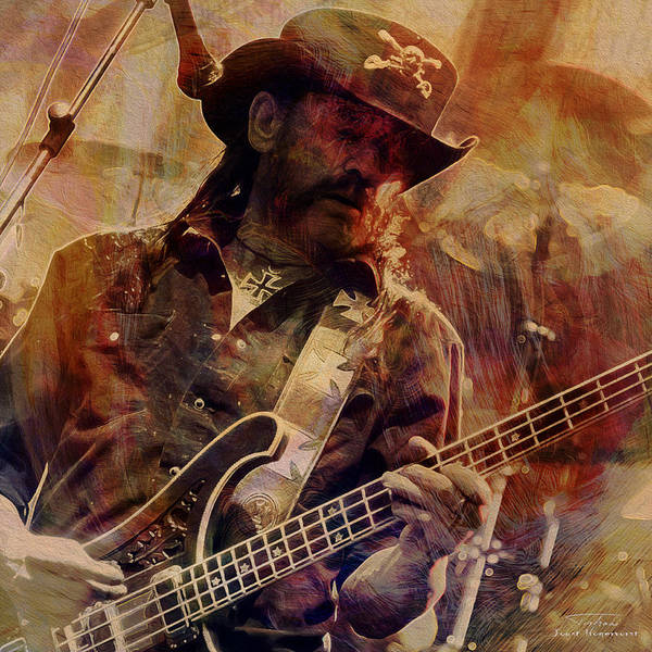 Frontman Wall Art - Painting - Music Icons - Lemmy Kilmister Ill by Joost Hogervorst