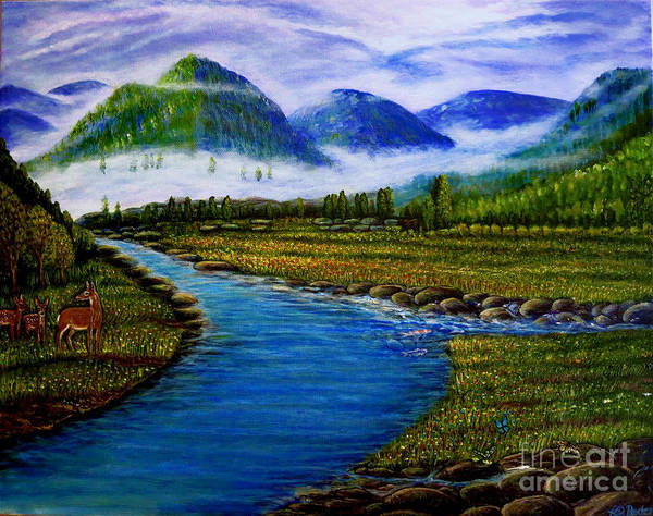 Diverted Wall Art - Painting - My Morning Walk With God In The Springtime by Kimberlee Baxter