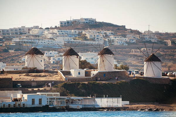 Photograph - Mykonos Windmill by Songquan Deng