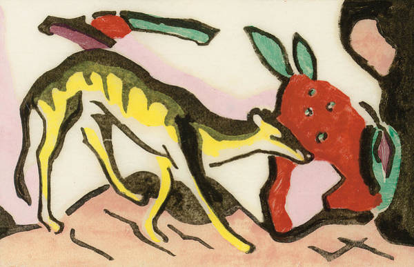 Franz Painting - Mythical Animal by Franz Marc