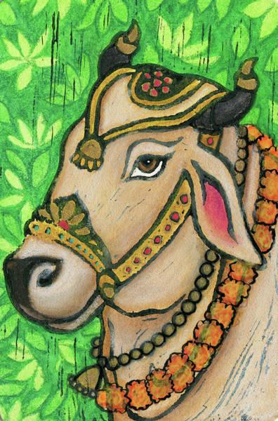Sacred Mixed Media - Nandi by Jennifer Mazzucco