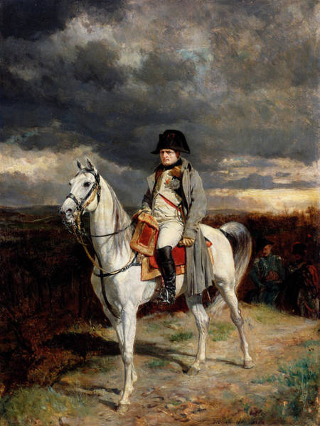 Crown Imperial Painting - Napoleon I In 1814 by Ernest Meissonier