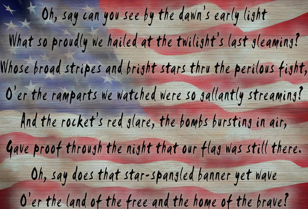 Mixed Media - National Anthem by Dan Sproul