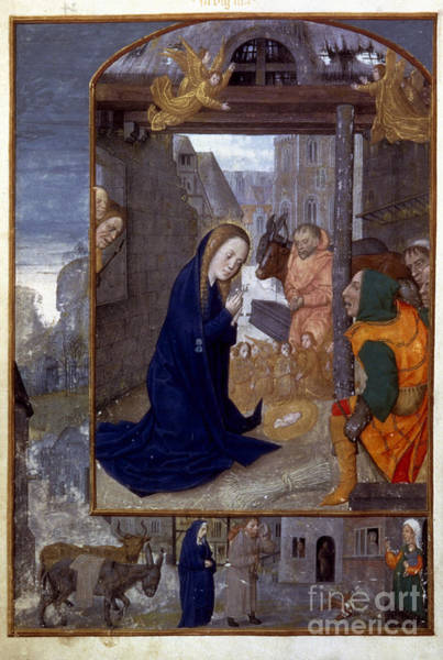 Photograph - Nativity With Shepherds by Granger