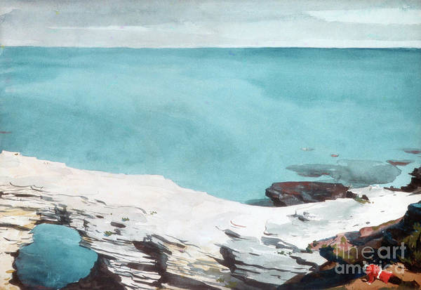 Bermuda Wall Art - Painting - Natural Bridge, Bermuda by Winslow Homer