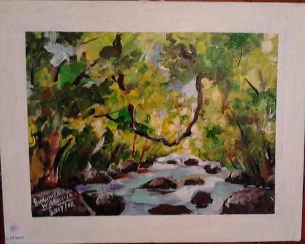 Wall Art - Painting - Nature by Sudumenike Wijesooriya