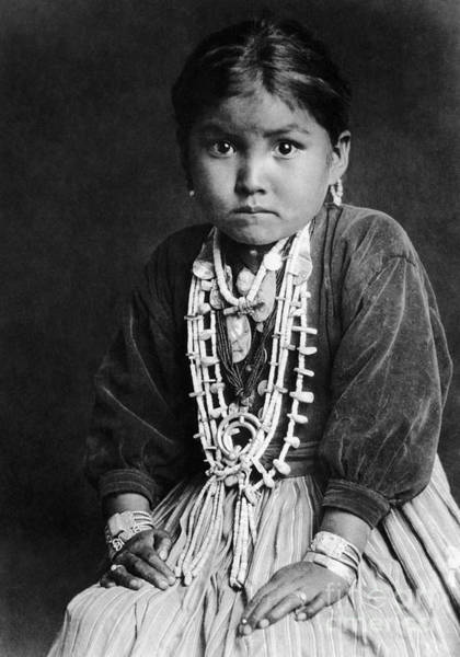 Photograph - Navajo Girl 1920 by Granger