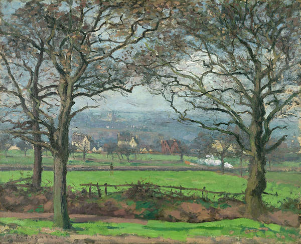 Post-impressionist Painting - Near Sydenham Hill by Camille Pissarro