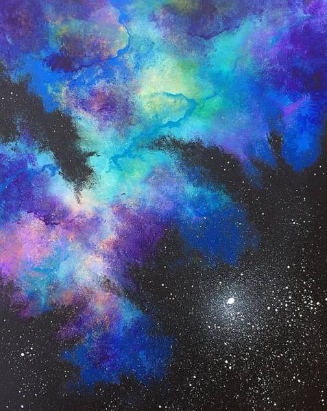 Wall Art - Painting - Nebula 14-d by Noah Babcock