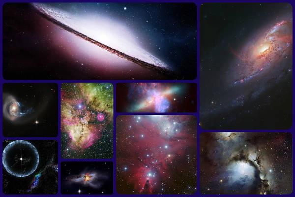 Photograph - Nebulas Collage by Artistic Panda