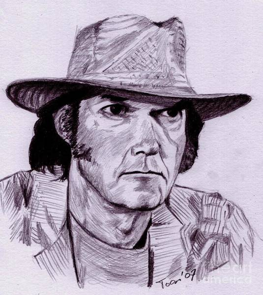 Drawing - Neil Young by Toon De Zwart