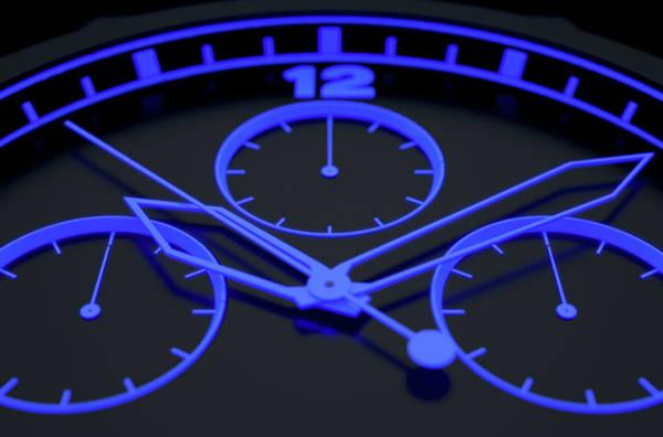 Wall Art - Digital Art - Neon Watch Face by Allan Swart
