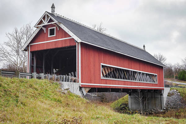 Photograph - Netcher Road Covered Bridge  by Jack R Perry