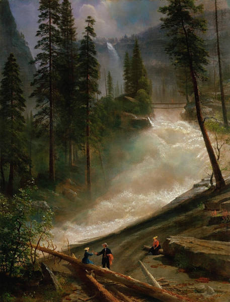 Painting - Nevada Falls, Yosemite by Albert Bierstadt