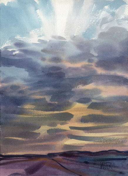 Skyscape Painting - Nevada Sunset by Donald Maier