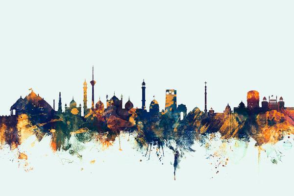 New Delhi India Skyline Art Print