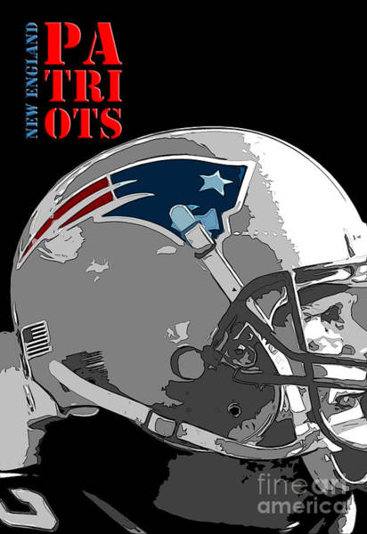 Wall Art - Digital Art - New England Patriots Original Typography Football Team by Drawspots Illustrations