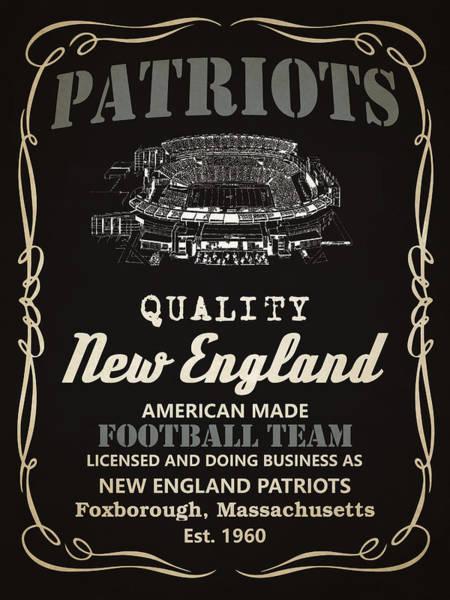 Whiskey Mixed Media - New England Patriots Whiskey by Joe Hamilton