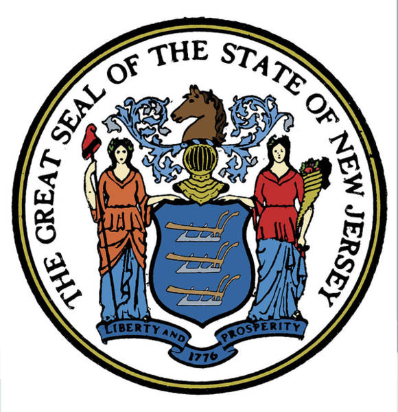Photograph - New Jersey State Seal by Granger