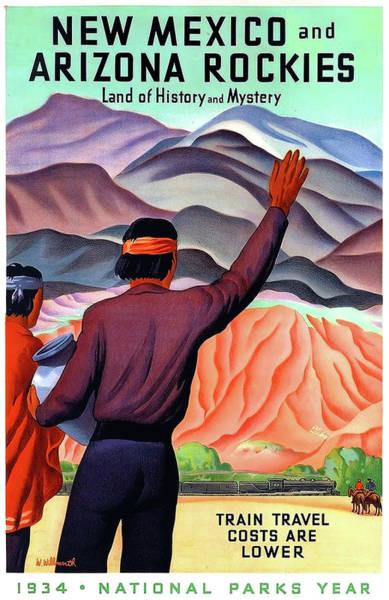 Wall Art - Painting - New Mexico And Arizona Rockies by Long Shot