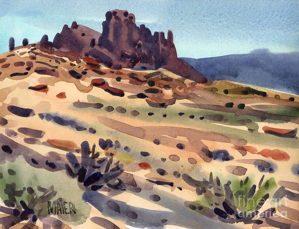Butte Painting - New Mexico Butte by Donald Maier